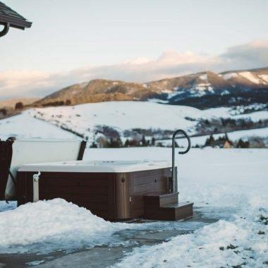 Jacuzzi gebruiken in de winter